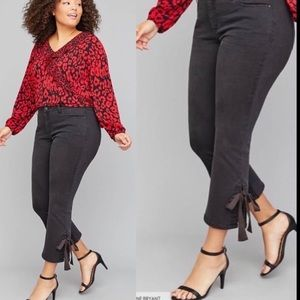 🔥NWT Lane Bryant  Black Stretch Ankle Jeans